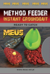 Instant Groundbaits Method Feeder Meus -  Gotowa, namoczona zanęta / Halibut / 700 g /